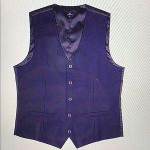 Wannew true navy blue tuxedo vest.